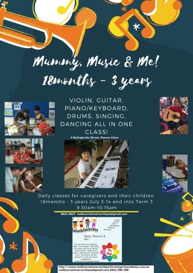 Mummy, Music & Me Flyer June 19